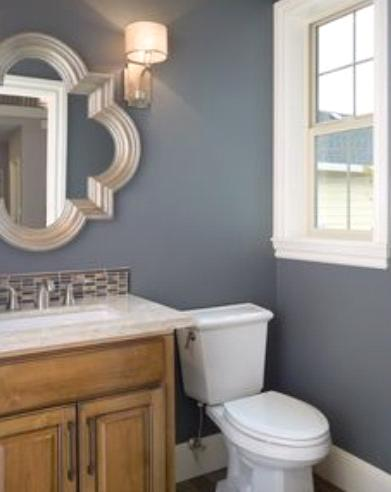 Traditional Bathroom Paint Colors blue