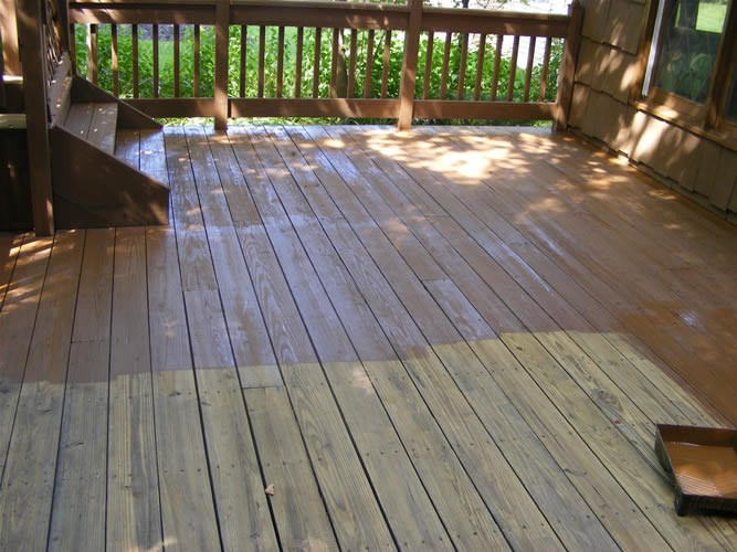 deck exterior painting job